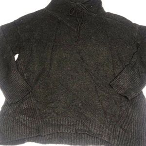 Philosophy Black Knit Sweater Top Size Large